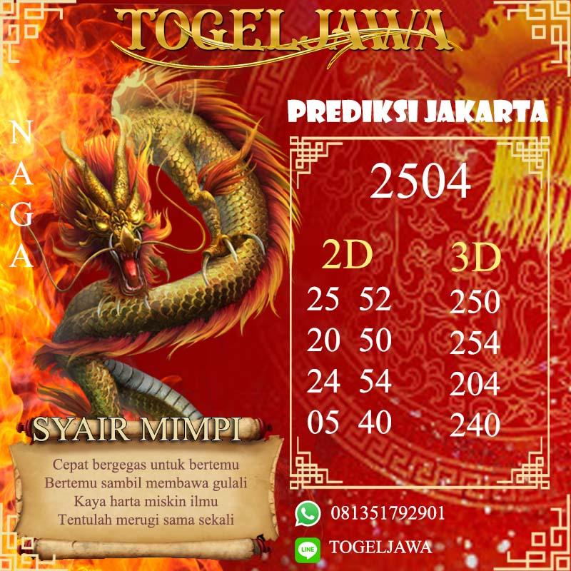 PREDIKSI JITU JAKARTA (JKT) 4 Mei 2021