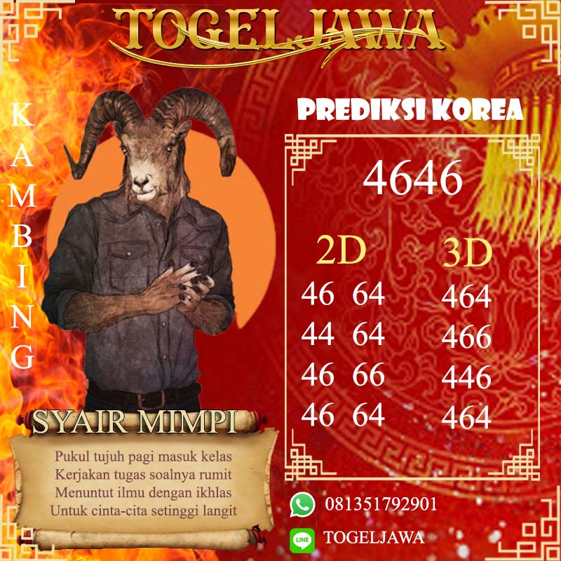 PREDIKSI JITU KOREA (KOR) 4 Mei 2021
