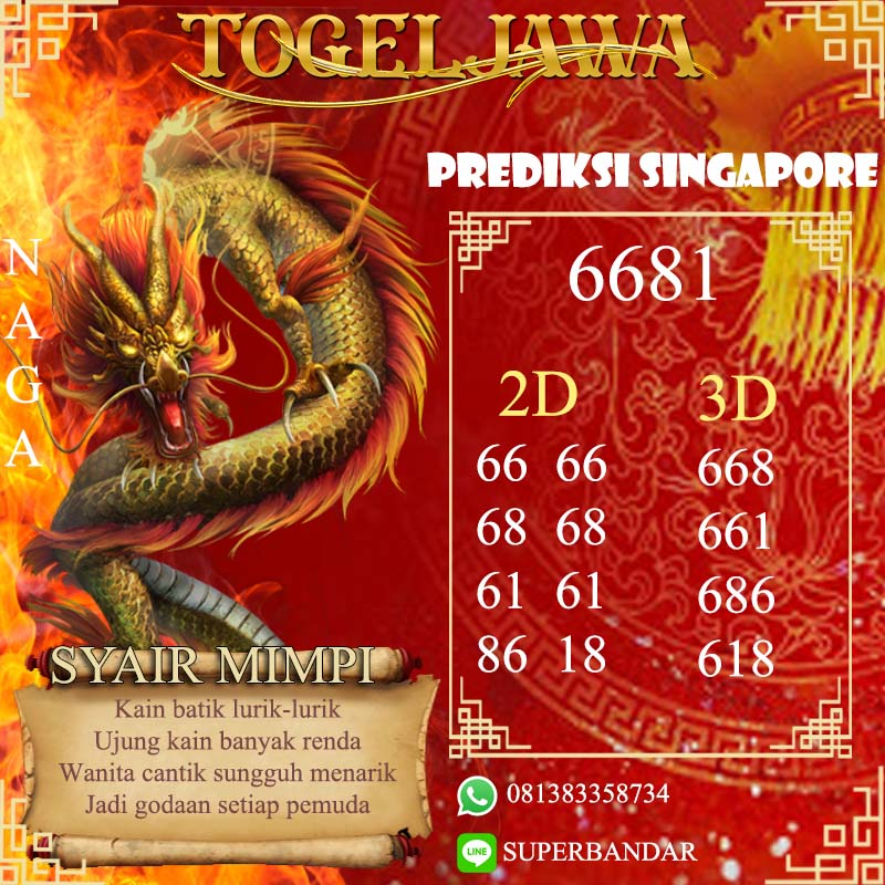 PREDIKSI JITU SINGAPORE (SGP) 5 Mei 2021